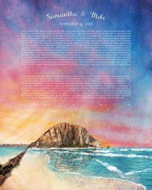 Morro Rock California Ketubah