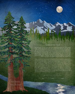 Redwoods and Mountains Ketubah