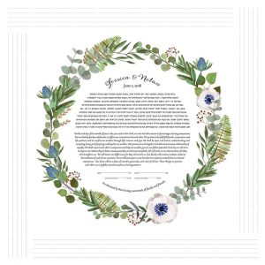 Anemones and Blue Thistles Ketubah