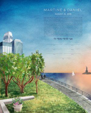 Battery Park New York City Ketubah