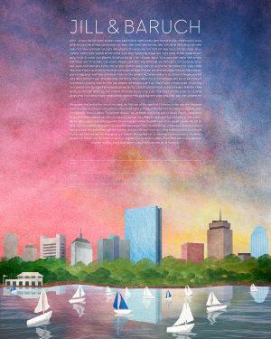 Boston at Sunset Ketubah