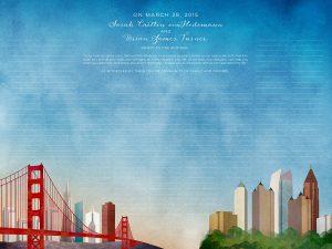 San Francisco to Charlotte Ketubah