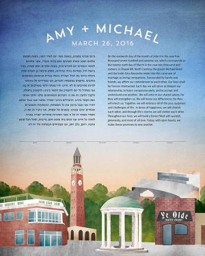 Chapel Hill North Carolina Ketubah