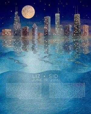 Chicago Lake Michigan Ketubah