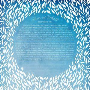 Endless Circle Blue Ketubah