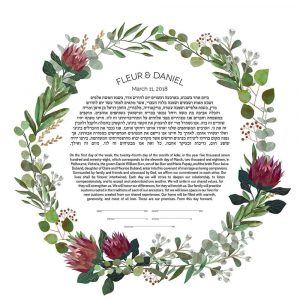 Proteas and Gumnuts Ketubah