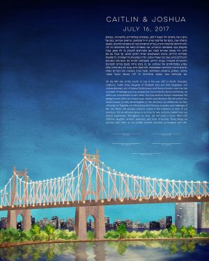 Queensboro Bridge New York City Ketubah