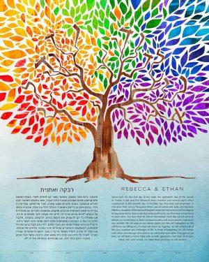 Rainbow Tree Ketubah