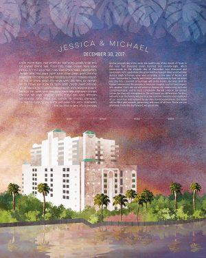 Riverside Hotel Fort Lauderdale Florida Ketubah