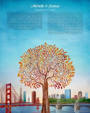 San Francisco to Boston Ketubah