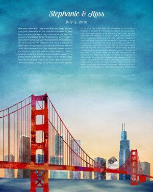 San Francisco to Chicago Ketubah