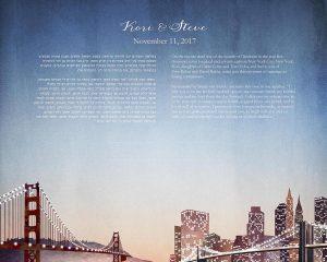San Franscisco to Brooklyn Ketubah