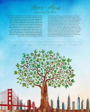 San Francisco New York Ketubah