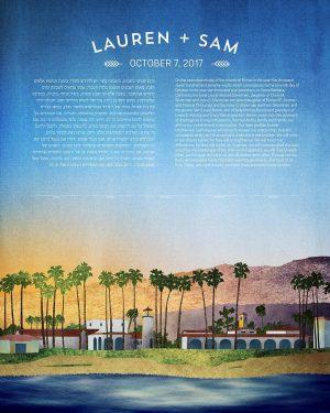 Santa Monica California Ketubah