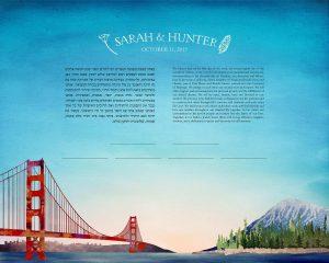 Bay Area California Ketubah