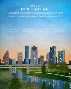 Houston Bayou Ketubah