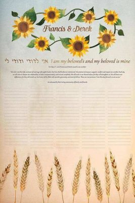 Sunflowers and Wheat Ketubah