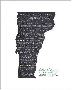 Vermont Typographic Ketubah