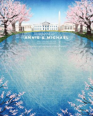 Washington DC Cherry Trees Ketubah