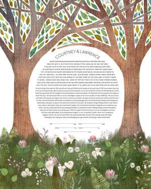 Whimsical Garden Ketubah