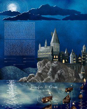 Hogwarts Harry Potter Ketubah