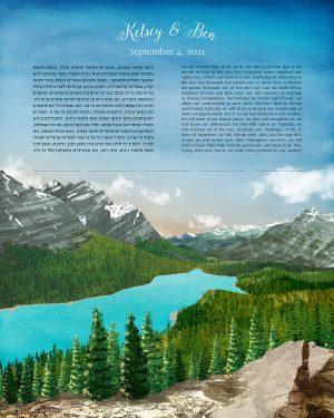 Peyto Lake, British Columbia Ketubah