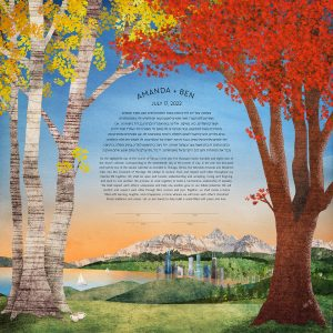 Silver Birch and Red Maple Ketubah