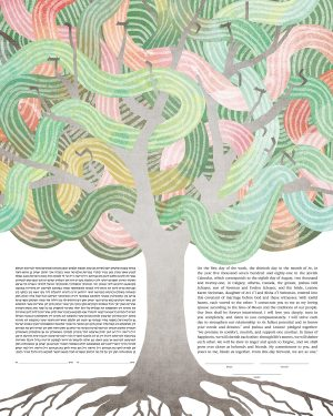 Tree of Life with Knotted Leaves Ketubah